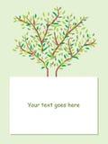 Fundo do folheto da árvore Imagens de Stock Royalty Free