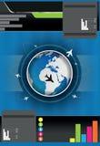 Fundo do folheto do vetor com globo ilustração royalty free