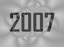 Fundo do Fractal - 2007 anos de véspera novos Foto de Stock