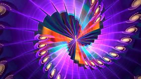 Fundo do Fractal com espiral violeta abstrata Laço detalhado alto vídeos de arquivo