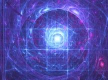 Fundo do fractal da energia Fotografia de Stock