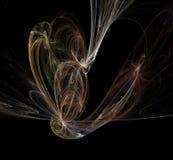 Fundo do fractal do fumo da cor isolado no preto ilustração royalty free