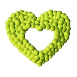 Fundo do frame das esferas de tênis fotos de stock royalty free