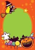 Fundo do frame do feriado de Halloween ilustração stock