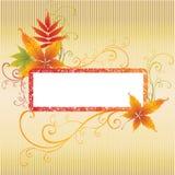 Fundo do frame do vetor de Grunge com folhas do outono. Foto de Stock Royalty Free