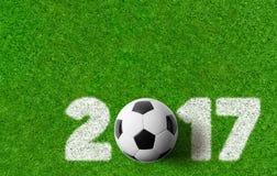 Fundo 2017 do futebol Imagem de Stock