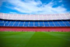 Fundo do futebol - campo borrado no estádio moderno Fotos de Stock