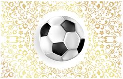 Fundo do futebol com bola de futebol ilustração do vetor