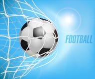 Fundo do futebol com espaço para o texto Imagens de Stock