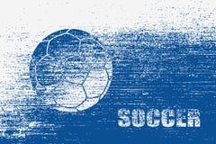 Fundo do futebol do Grunge ilustração royalty free