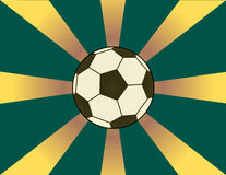 Fundo do futebol do Sunburst Fotografia de Stock Royalty Free