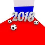 Fundo 2018 do futebol em Rússia Foto de Stock Royalty Free