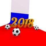 Fundo 2018 do futebol em Rússia Imagem de Stock Royalty Free
