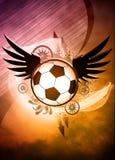 Fundo do futebol ou do futebol Fotografia de Stock