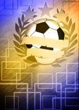 Fundo do futebol ou do futebol Fotos de Stock Royalty Free