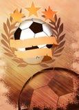 Fundo do futebol ou do futebol Imagens de Stock