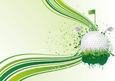 fundo do golfe Fotos de Stock Royalty Free
