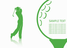 Fundo do golfe Fotos de Stock Royalty Free