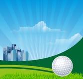 Fundo do golfe Foto de Stock