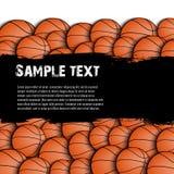 Fundo do grunge do basquetebol Fotos de Stock Royalty Free