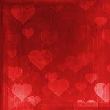 Fundo do Grunge com corações Fotos de Stock Royalty Free