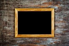 Fundo do Grunge com quadro de madeira Imagens de Stock Royalty Free