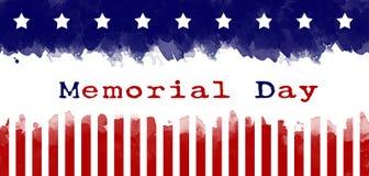 Fundo do grunge da bandeira americana do cartão do Memorial Day ilustração do vetor