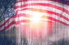 Fundo do grunge da bandeira dos EUA, para o 4 de julho, o Memorial Day ou os veteranos Fotografia de Stock Royalty Free