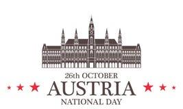 Fundo do grunge da independência Day Áustria Foto de Stock Royalty Free