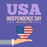 Fundo do grunge da independência Day Imagens de Stock