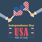 Fundo do grunge da independência Day Imagens de Stock Royalty Free