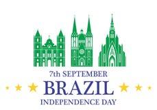 Fundo do grunge da independência Day brasil Foto de Stock Royalty Free