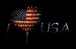 Fundo do grunge da independência Day Eu amo EUA Fotografia de Stock