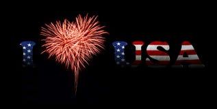 Fundo do grunge da independência Day Eu amo EUA Imagem de Stock