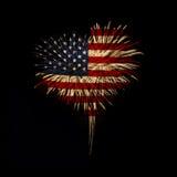 Fundo do grunge da independência Day Meu coração com amor aos EUA Foto de Stock Royalty Free
