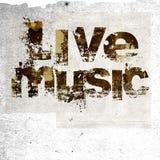 Fundo do grunge da música ao vivo Fotografia de Stock