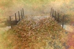 Fundo do grunge da ponte do outono Imagem de Stock Royalty Free