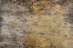 Fundo do Grunge da prancha de madeira marrom velha Listras horizontais fotografia de stock royalty free