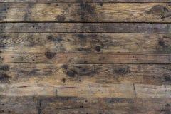 Fundo do Grunge da prancha de madeira marrom velha Listras horizontais imagem de stock royalty free