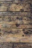 Fundo do Grunge da prancha de madeira marrom velha Listras horizontais imagens de stock