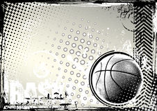 Fundo do grunge do basquetebol ilustração stock