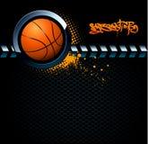 Fundo do grunge do basquetebol ilustração do vetor
