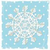 Fundo do grunge do Natal com floco de neve do origami Fotos de Stock Royalty Free