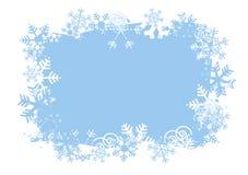 Fundo do grunge dos flocos de neve ilustração do vetor