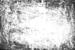 Fundo do Grunge, textura branca do preto velho do quadro, papel sujo Imagens de Stock