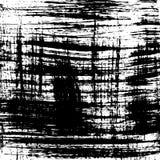 Fundo do grunge do vetor Teste padrão preto e branco do curso da escova ilustração stock