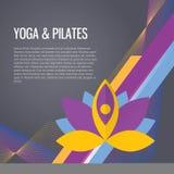 Fundo do gym do esporte da ioga Imagem de Stock Royalty Free