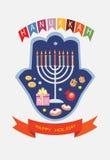 Fundo do Hanukkah Fotos de Stock