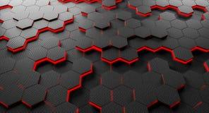 Fundo do hexágono da fibra do carbono Fotografia de Stock Royalty Free