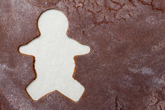 Fundo do homem de pão-de-espécie Fotos de Stock Royalty Free